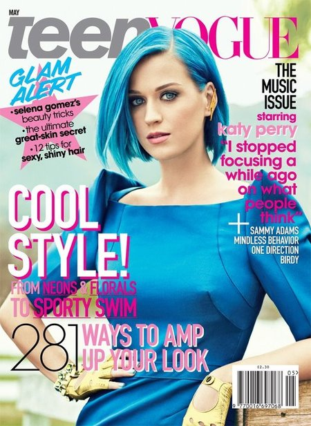 ¿Es Pitufina? ¿Es Avatar? No, es Katy Perry en Teen Vogue