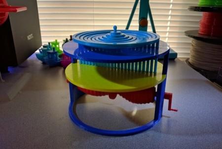 Gracias a la impresión 3D puedes fabricarte cosas tan hipnóticas como esto