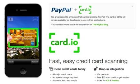 PayPal adquiere el servicio card.io para mejorar sus capacidades contra Square
