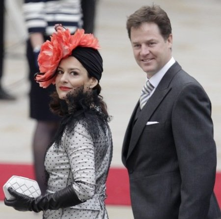 El look de Miriam Gonzalez, la mujer del viceministro inglés en la boda del príncipe Guillermo y Kate Middleton