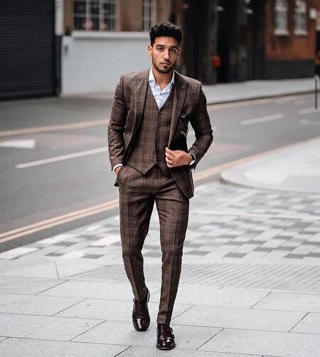 El Mejor Street Style De La Semana Brown Suit Trendencias Hombre 11