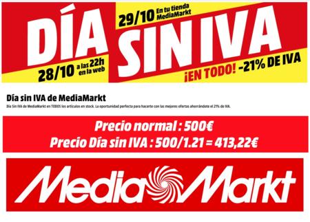 Día Sin IVA en MediaMarkt: ahorra el 21% de IVA en informática, telefonía o televisores