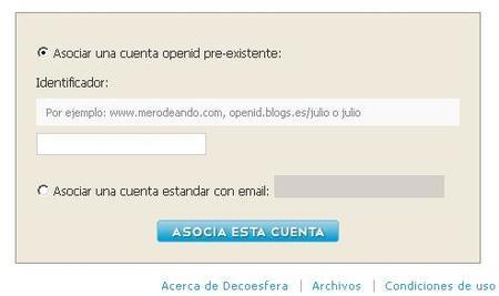asociar cuenta en weblogssl