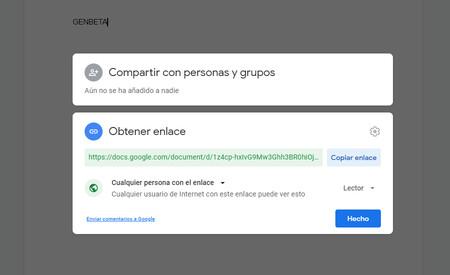 Compartir Enlace Google Drive