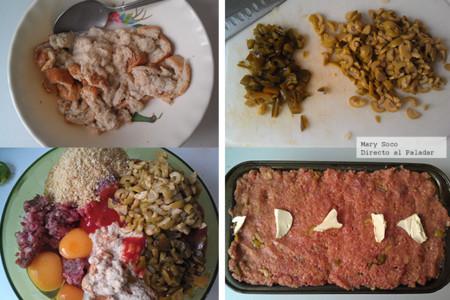 Pastel de carne y aceitunas. Receta
