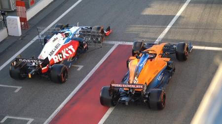 Sainz Russell Barcelona F1 2020