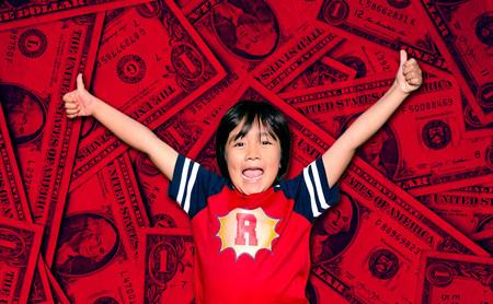 Forbes estima el YouTuber mejor pagado de 2019 es Ryan Kaji: un niño de ocho años que ha ganado 26 millones de dólares