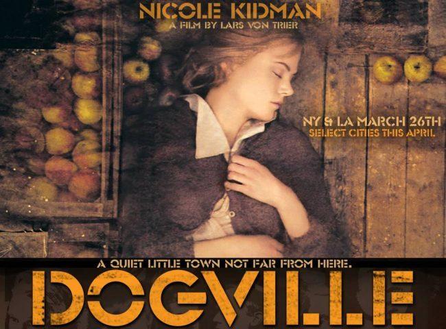 Un cartel de Dogville