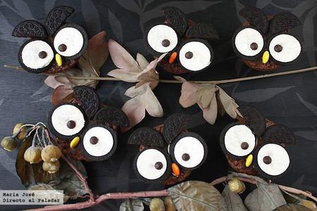 Búhos de Oreo, receta de Halloween