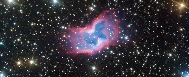 Very Large Telescope capta esta burbuja de gas espacial con forma de mariposa