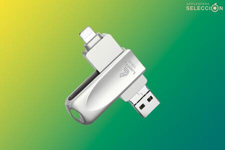 Esta versátil memoria flash USB 4 en 1 de 128 GB con conector Lightning se queda a 17,55 euros en Amazon usando este cupón