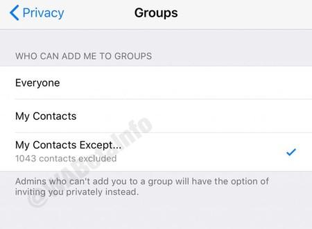 Whatsapp Privacidad Grupos