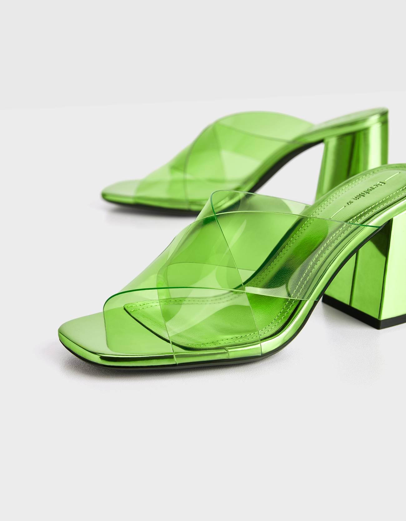 Sandalias de vinilo verde