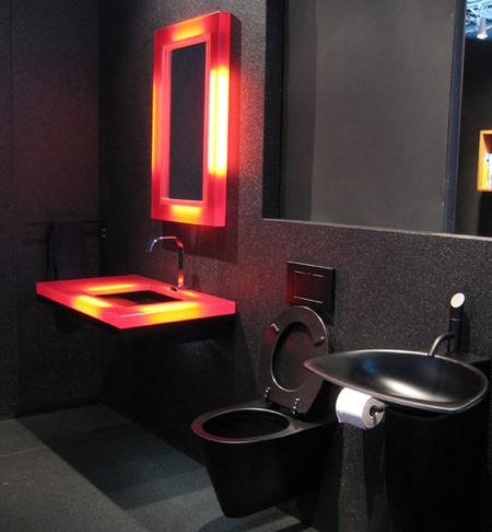 Un baño negro radical.