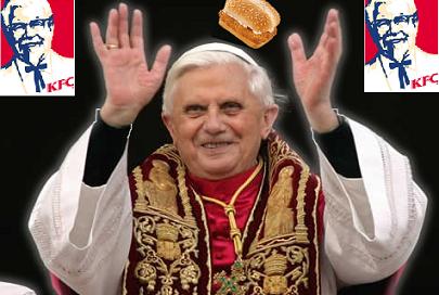 Kentucky Fried Chicken solicita al Papa Benedicto XVI que bendiga el pescado para cuaresma