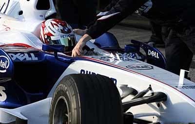 Buen debut de Javi Villa con BMW Sauber