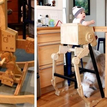 Un padre crea impresionantes muebles para su bebé inspirados en Star Wars