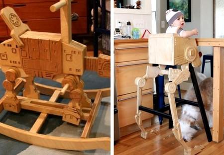 Un padre crea impresionantes muebles para su bebé inspirados en Star ...