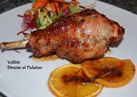Muslos de pavo especiados a la naranja y glas de vino - Pavo ala naranja al horno ...