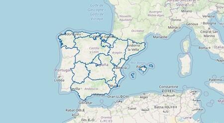 Este mapa interactivo de la DGT recoge todos los planes de movilidad y seguridad vial en España
