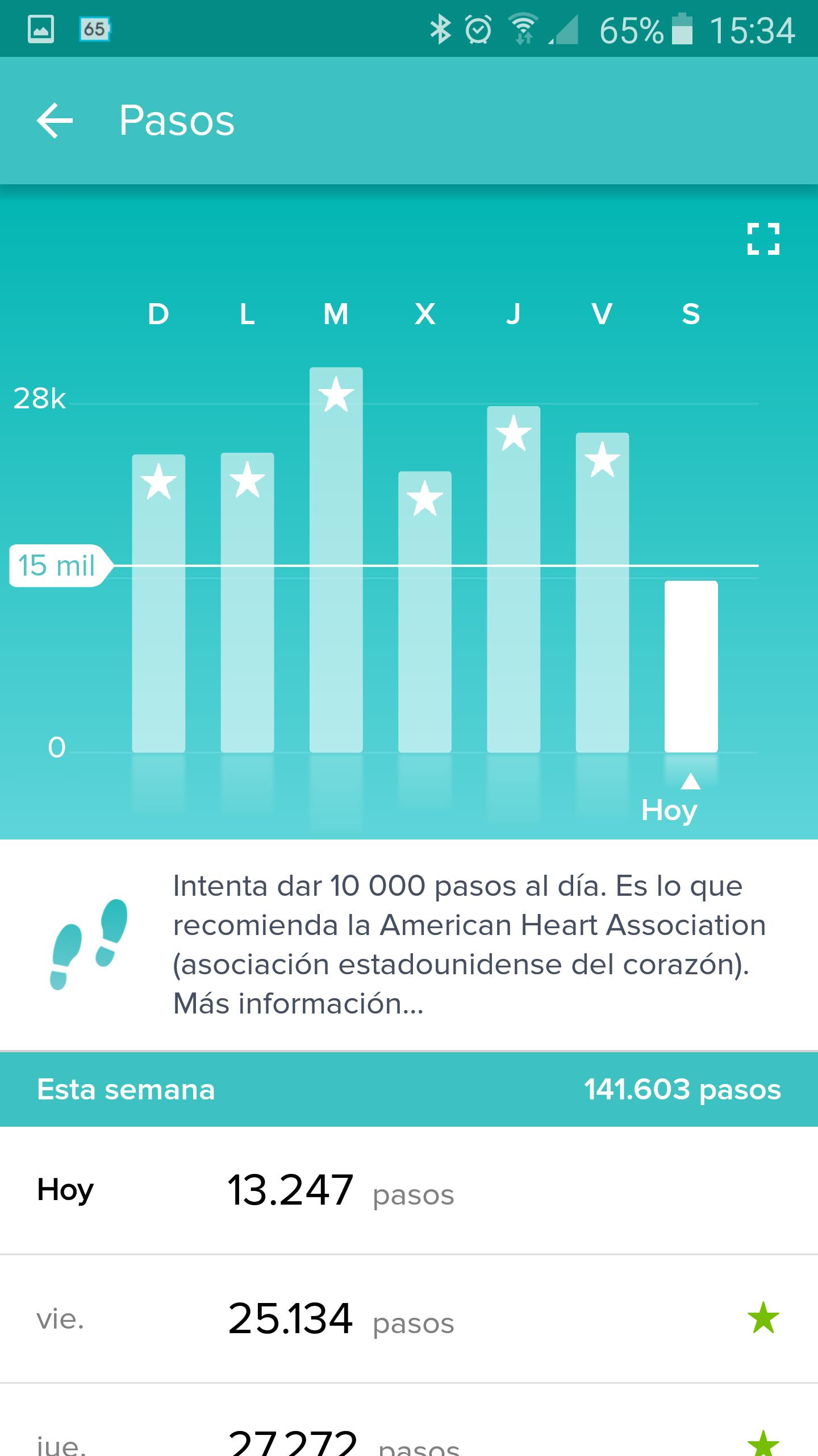 Foto de Aplicación Fitbit en smartphone (6/19)