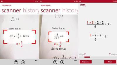 PhotoMath, captura y resuelve operaciones matemáticas en Windows Phone. La aplicación de la semana
