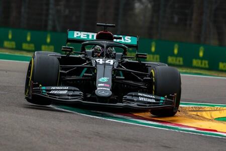 Lewis Hamilton le da el título de constructores a Mercedes con una polémica victoria en Imola