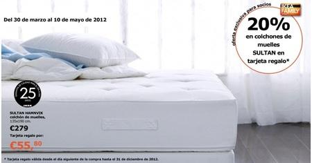 Ikea nos ofrece un 20% de descuento en colchones