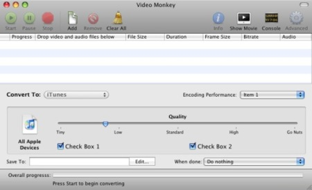 Video Monkey, siguiendo los pasos de VisualHub