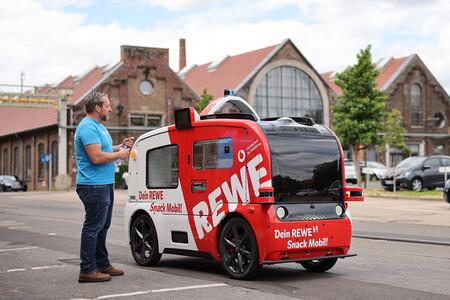 El primer supermercado autónomo de Europa es un vending con ruedas que circula ya por Alemania