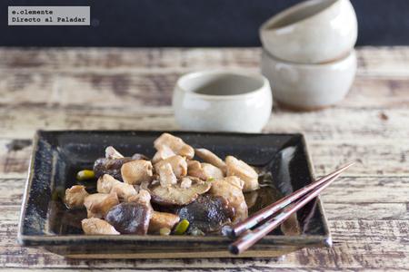 Pechuga de pollo con shiitake y cerveza