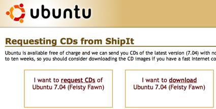 Ubuntu Feisty ya puede pedirse en ShipIt
