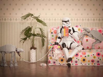 El otro lado (menos oscuro) de los malos de Star Wars reinterpretado en las fotos de David Gilliver