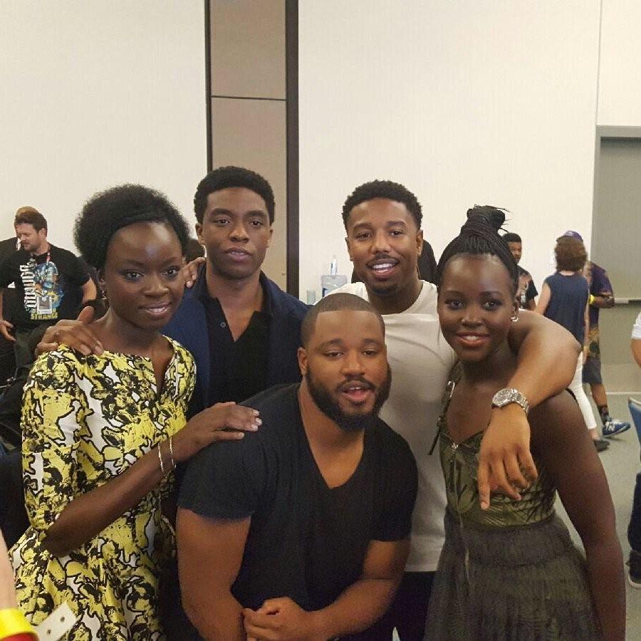 El director y las estrellas de Black Panther