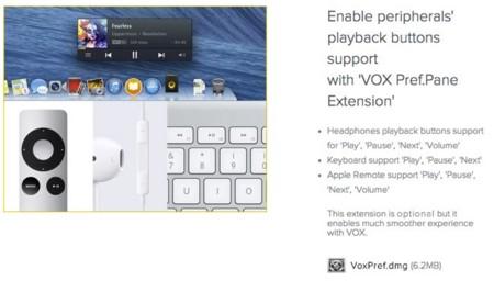 Si instalamos un panel de preferencias en el sistema podremos controlar Vox más comodamente