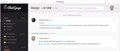 ChatGrape,  mensajería instantánea con profunda integración con otros servicios