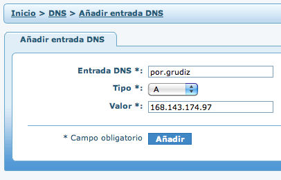 Personalizando el DNS