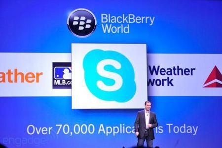 Llega Skype a Blackberry 10