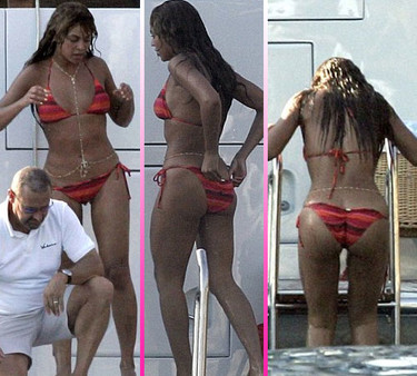 Beyoncé luce curvas en Croacia
