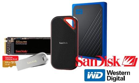Ofertas en almacenamiento SanDisk y Western Digital: NAS, discos duros portables y de sobremesa o tarjetas de memoria a los mejores precios en Amazon