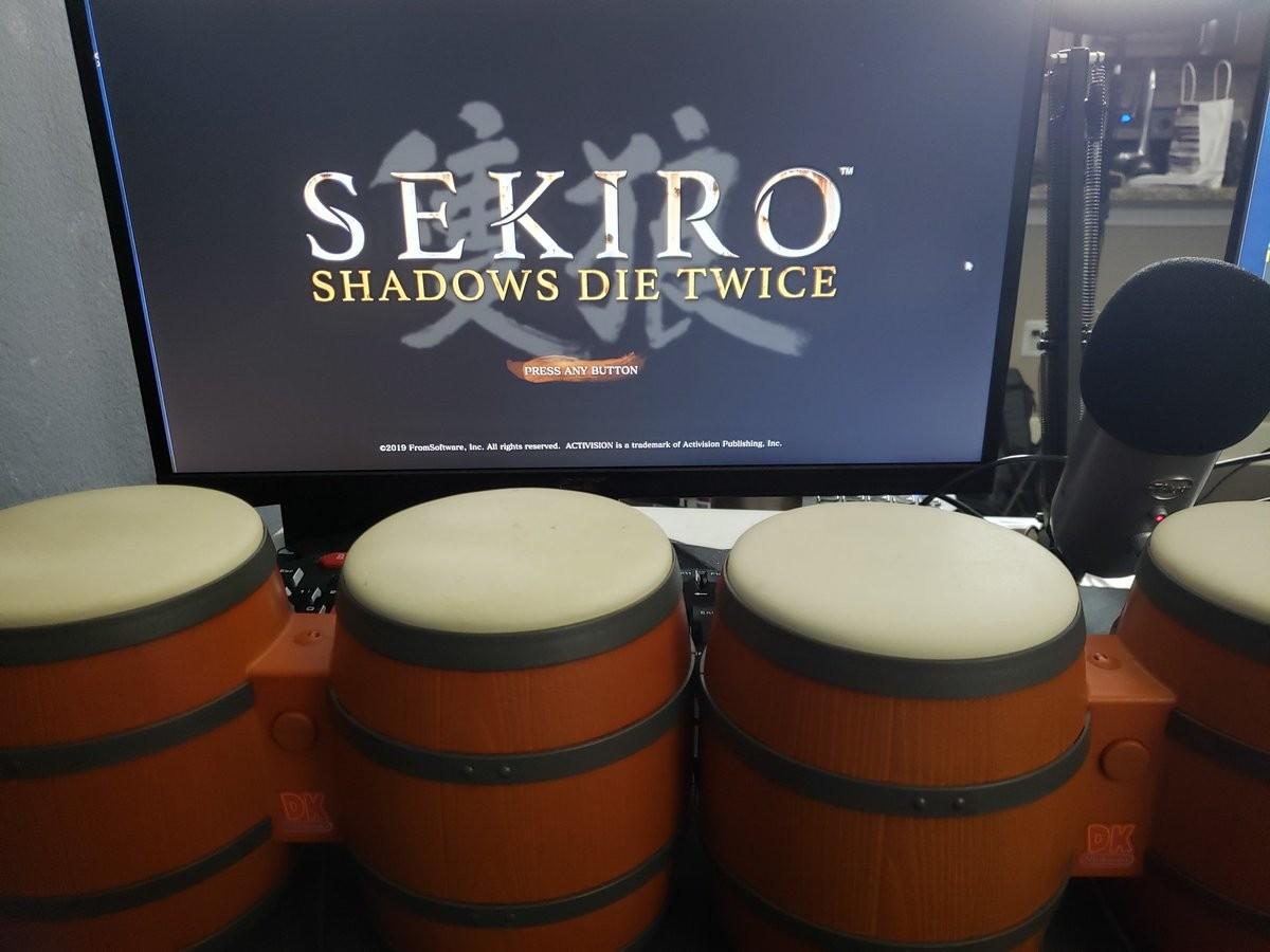 Completan Sekiro: Shadows Die Twice con los bongos de Donkey Konga como mando de control
