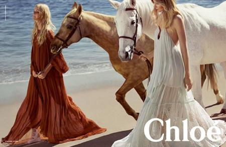 Caroline Trentini, Eniko Mihalik y el estilo effortless en la campaña de Chloé primavera-verano 2015