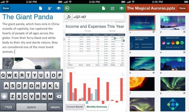 microsoft office ios mobile