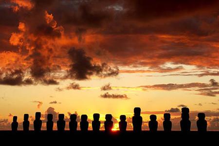 Los moais de Isla de Pascua en peligro