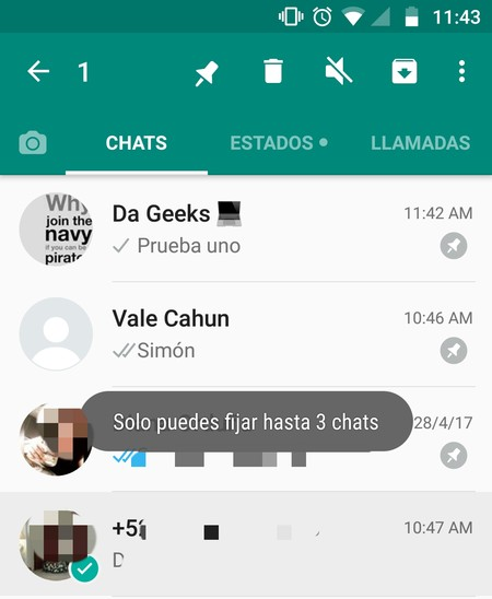 Whatsapp Android Fijar Chats Beta