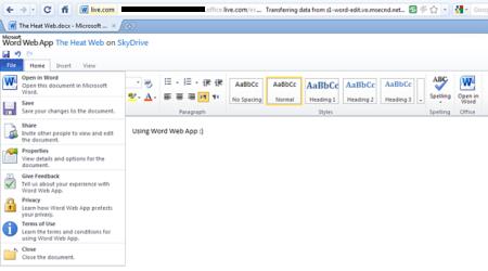 Word Web App Microsoft