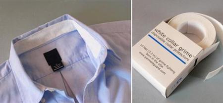 White Collar Grime, protector para cuellos de camisas