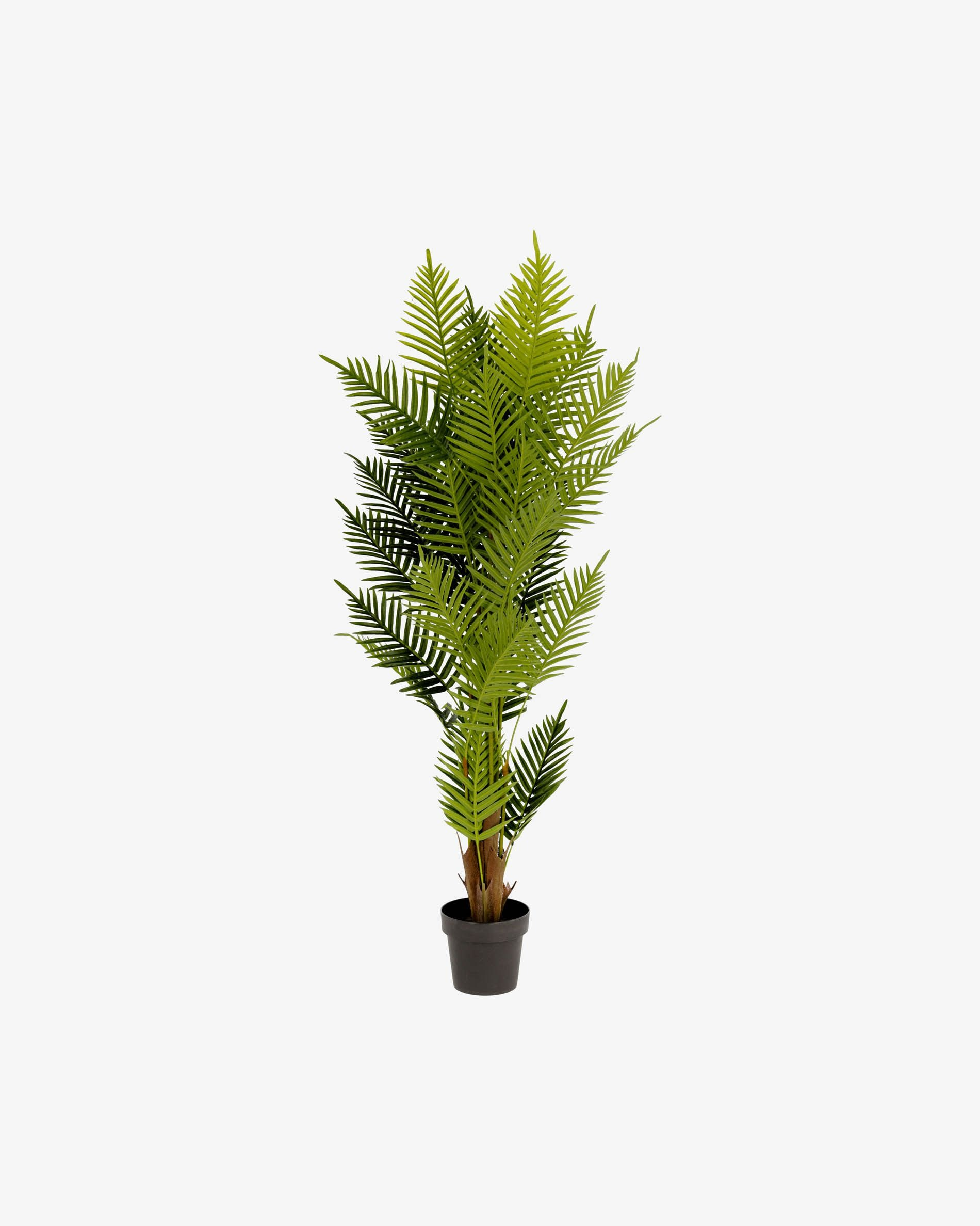 Planta artificial Palmera de helecho con maceta negro 150 cm