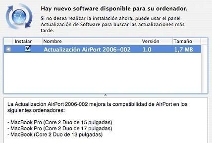 Nueva actualización de Airport