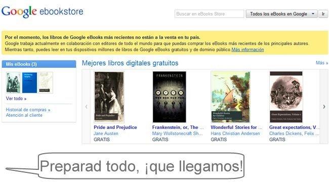 Google eBooks abrirá en España en los próximos meses